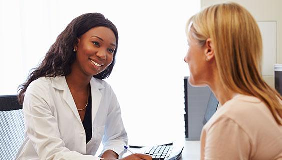 Doctor & Patient conversing